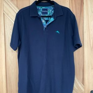 Tommy Bahama IslandZone Polo- Navy Blue